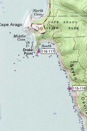 Seven Devils cliffs, Cape Arago South Cove