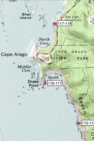 Cape Arago, Drake Point, North Cove