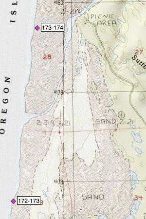 South end of Baker Beach, Sutton Creek, Heceta Beach
