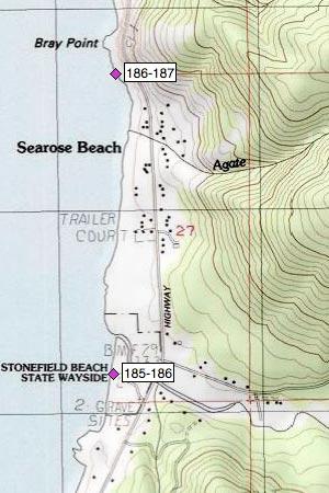 Tenmile Cr, Searose Beach N of Stonefield Beach Wayside