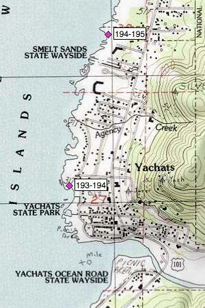 Yachats, Adobe Inn, Smelt Sands Wayside