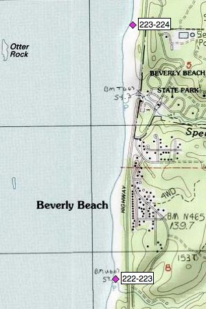 Beverly Beach, Spencer Creek, Beverly Beach SP