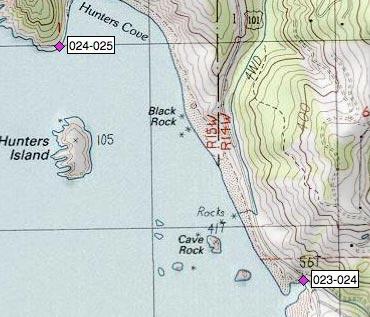 Cave Rock, Hunters Island, Hunters Cove