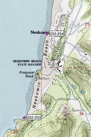Neskowin Beach, SW, Proposal Rock, Neskowin Creek