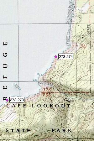 Cape Lookout northeast, Cape Creek