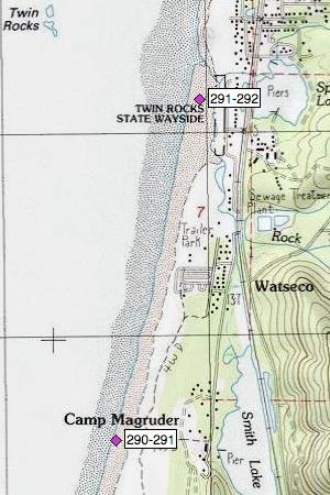 Camp Magruder north, Watseco, Twin Rocks SW