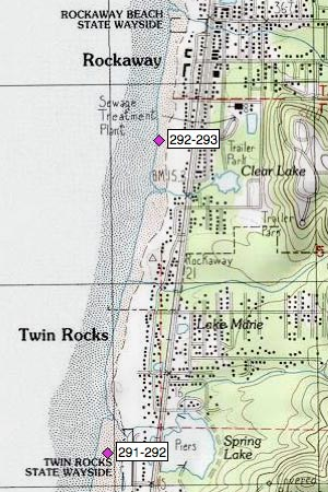 Twin Rocks, Heitmiller Creek