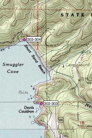 Oswald West SP, Smuggler Cove, Short Sand Beach