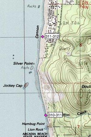 Jockey Cap, Silver Pt, S Cannon Beach, Tolovana Beach