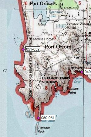 Port Orford Heads west of Tichenor Rock