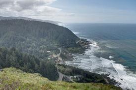 Photo of coastline at Cape Perpetua.