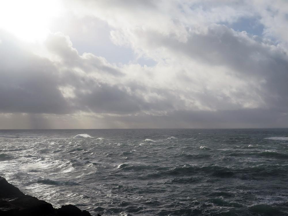Rough seas ahead under Navy bombardment.\Photo by Sara Schreiber.