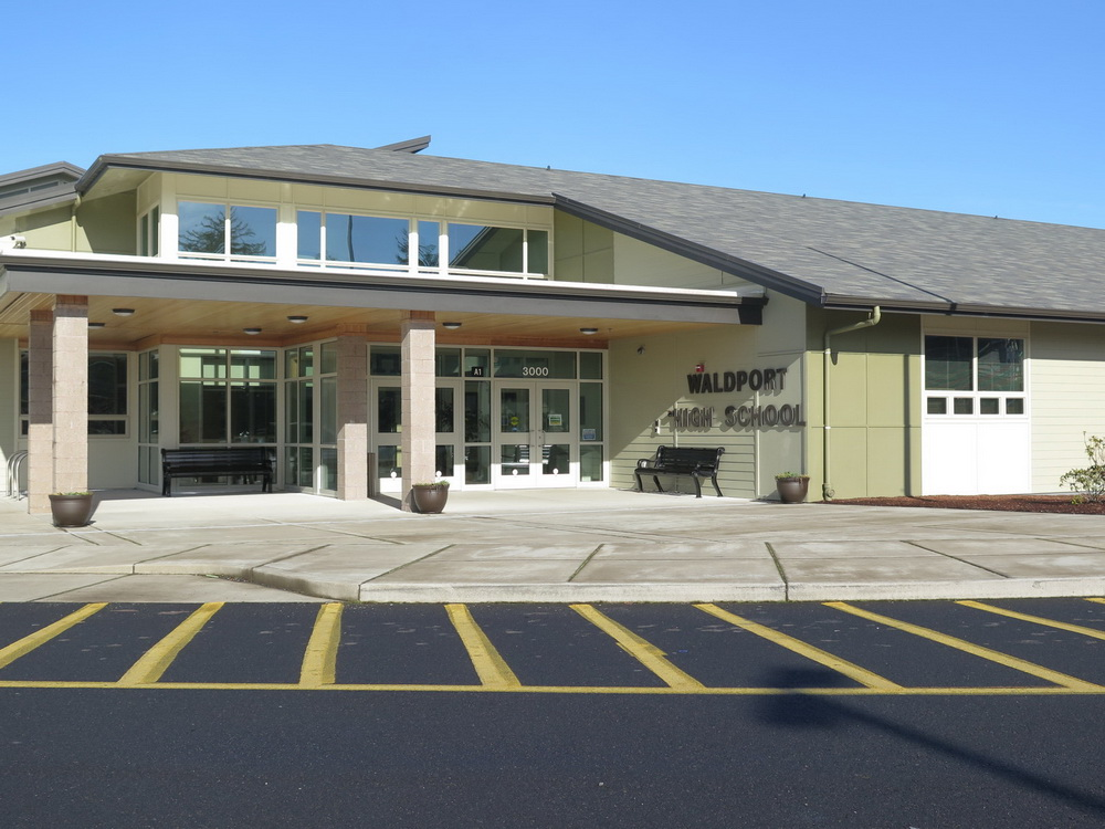 Waldport High School, scene of the Sharing the Coast Conference.  Photo by Sara Schreiber.