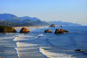 Oregon's nearshore ocean from Ecola State Park. Photo by Bruce Swenson.