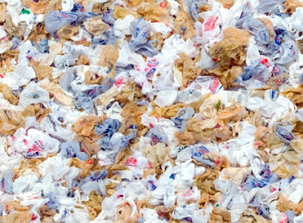 Plastic bags choke waterways and the sea, and threaten wildlife.