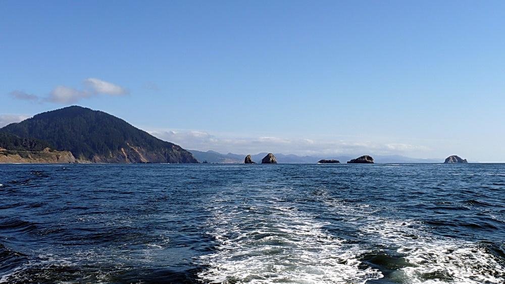Leaving Redfish Rocks Marine Reserve.  Photo courtesy of ODFW.