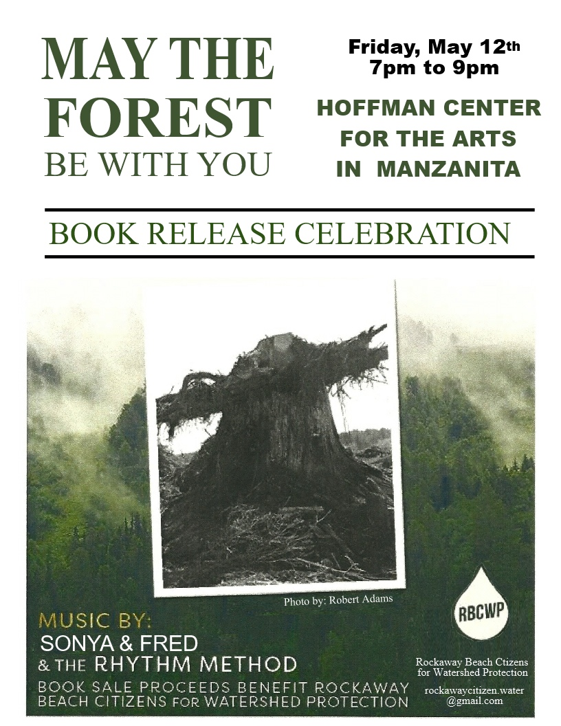 Poster for May The Forest Be With You event in Manzanita, Oregon.
