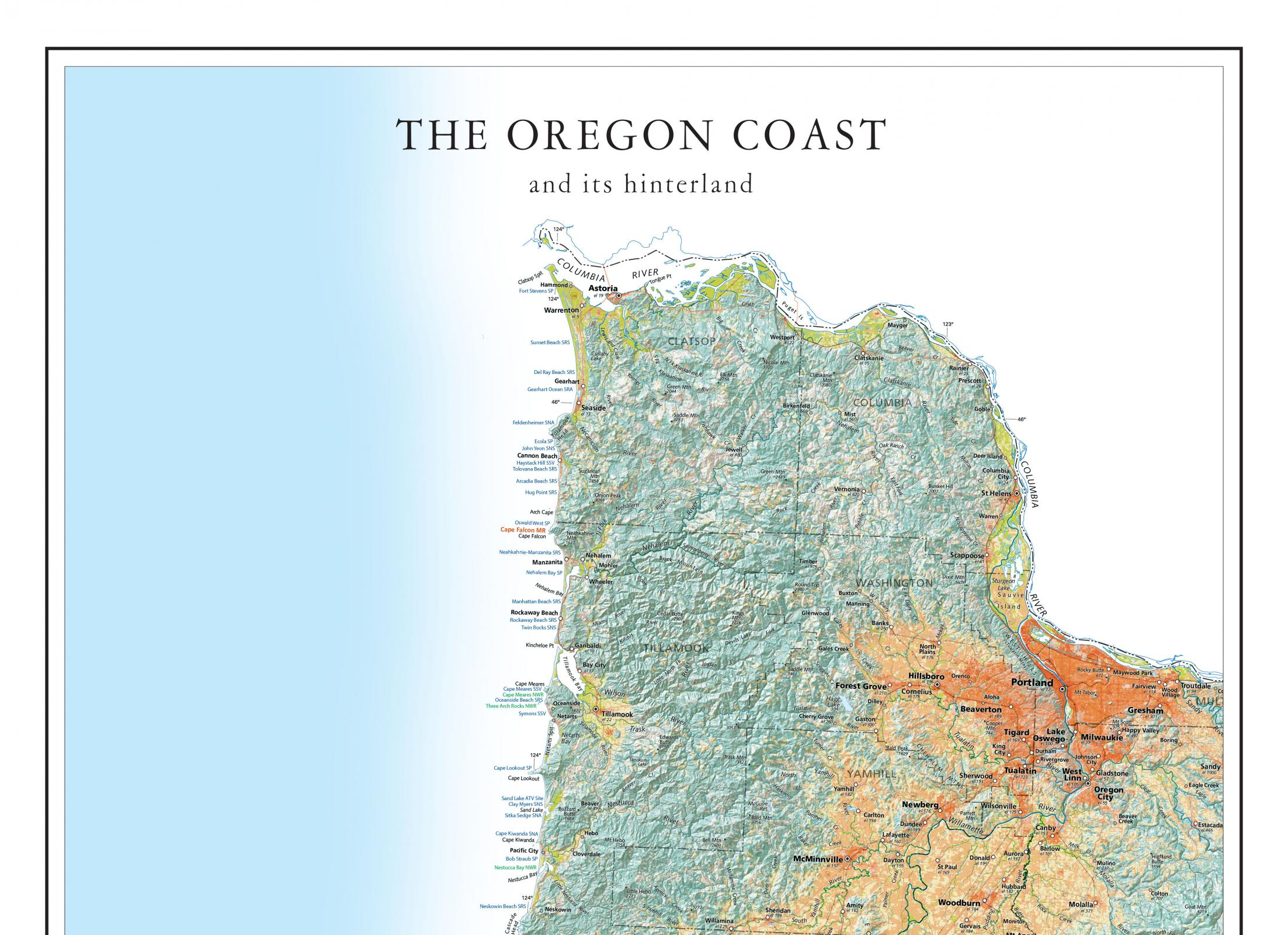 Oregon Coast Map