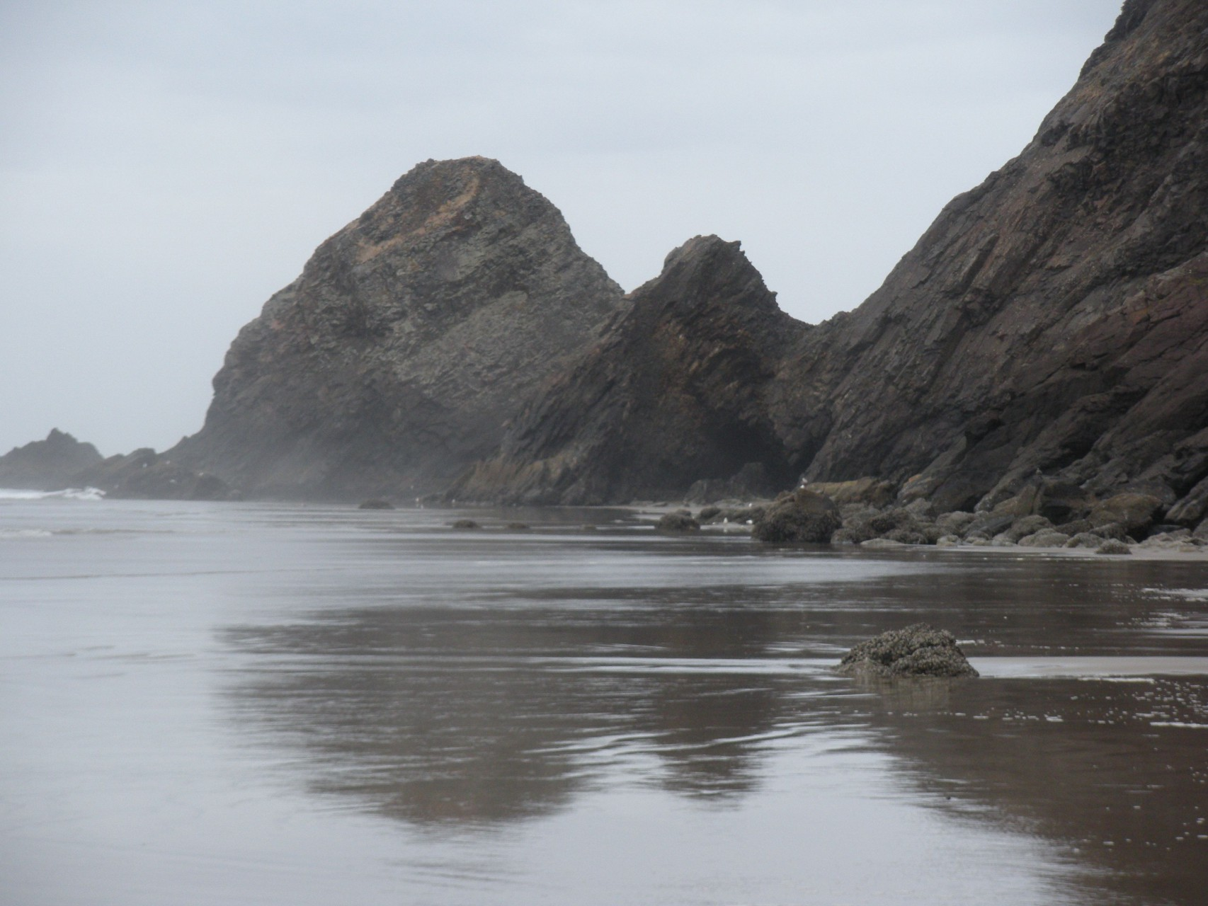 Looking North From Cove Beach Towards The Arch Cape At 2 0 Tide