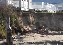 Photo of Rental house threatened by erosion in Rockaway, by Scott Gilbert.