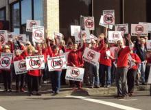 Opponents rally against LNG.