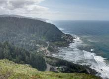 Photo of coastline at Cape Perpetua.