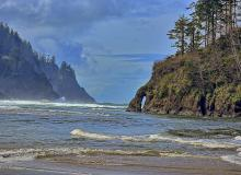 The beach at Neskowin, and Proposal Rock.\Photo by Kirt Edblom.