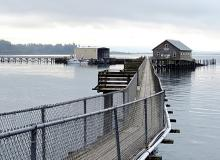 Pier at Garibaldi--acidification can affect Oregon's fisheries\Photo by Sonja Peterson.