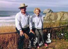Howard and Marguerite Watkins in Bandon.