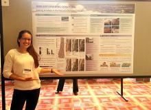 Meg Reed presenting her findings as a Coastal Fellow.