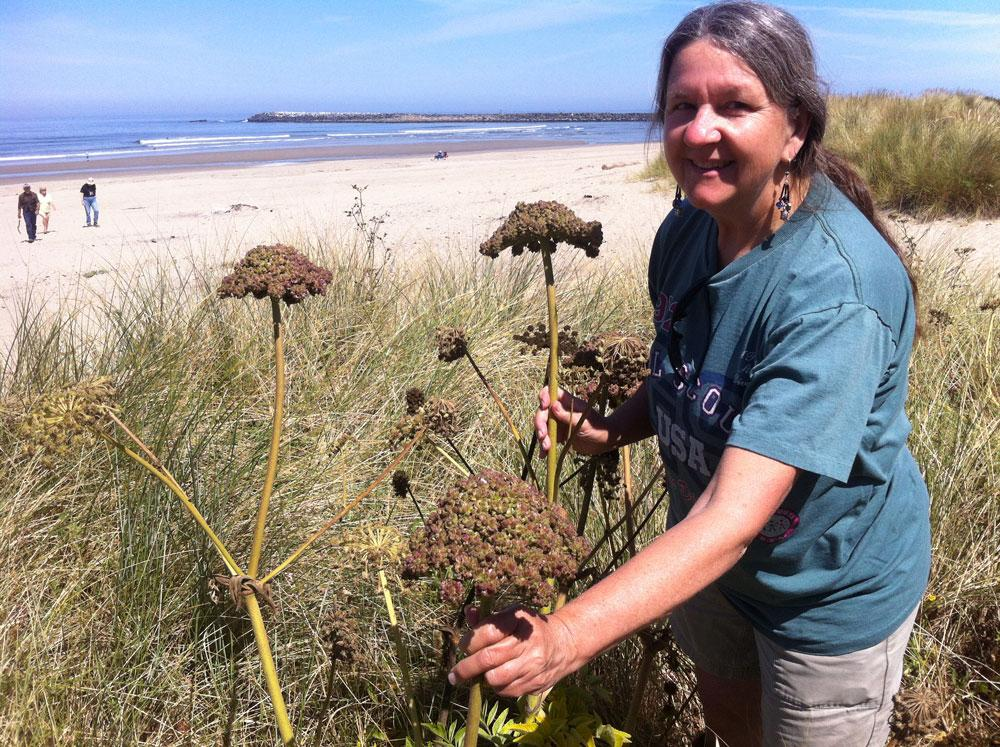 Photo of Fawn Custer with Sea Watch plants.