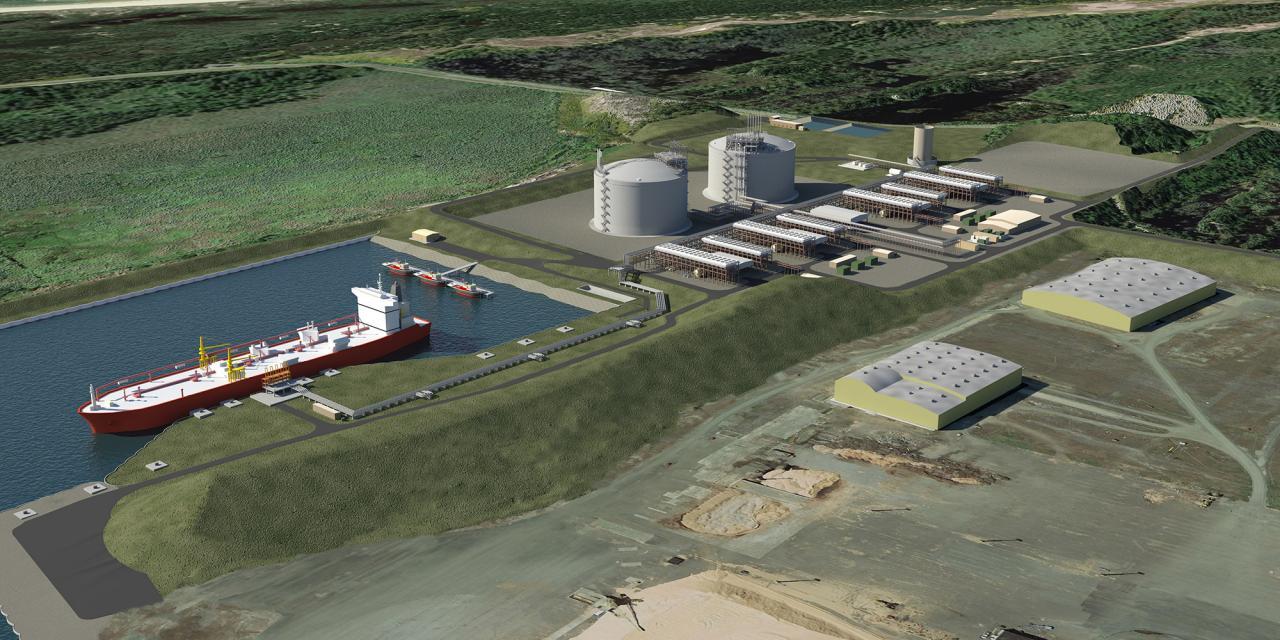 Jordan Cove LNG terminal, artist's conception.