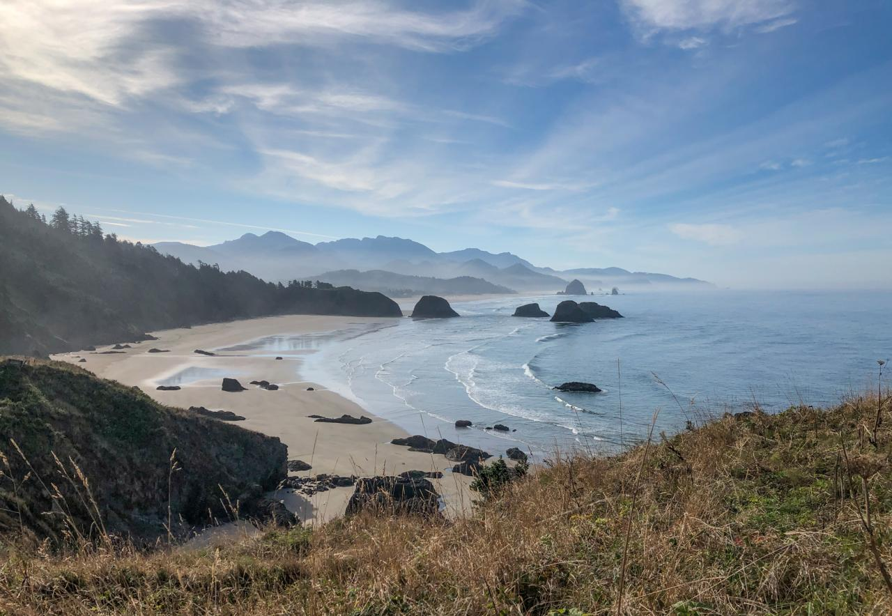 Crescent Beach from Ecola State Park.