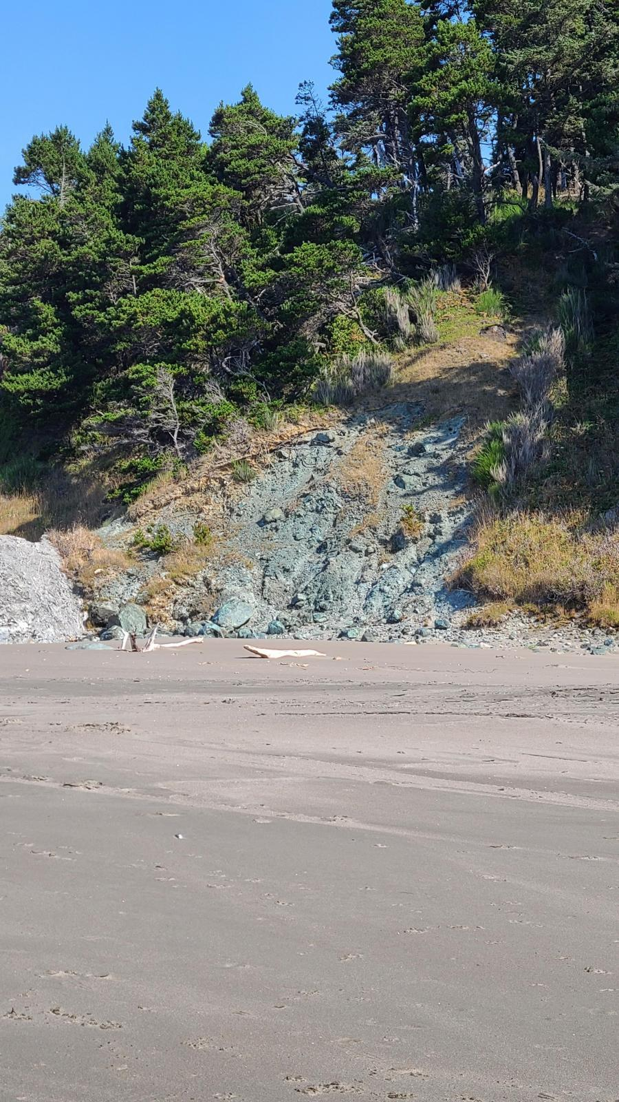 Landslide near Battle Rock Beach