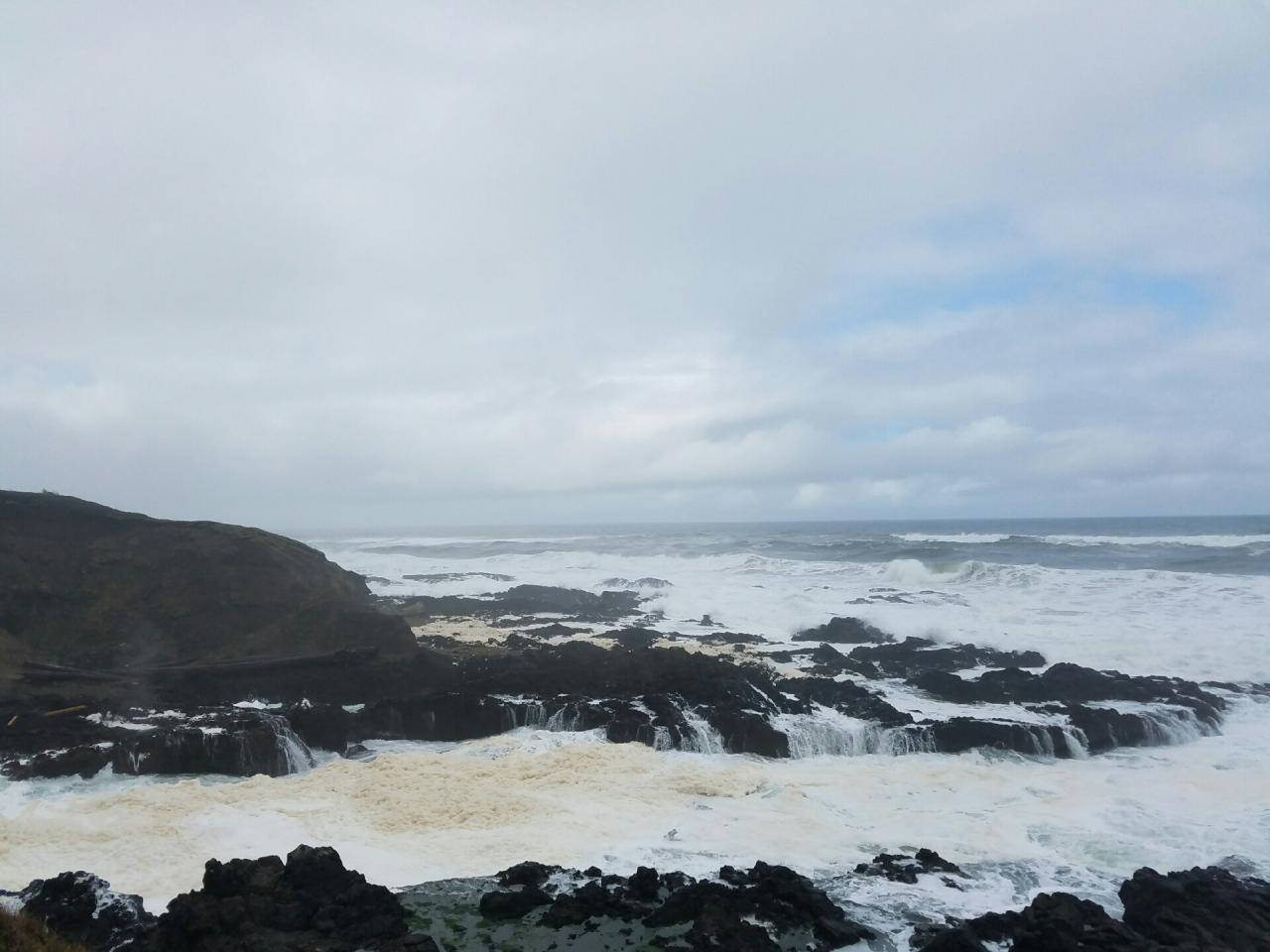 High tide at Cape Perpetua