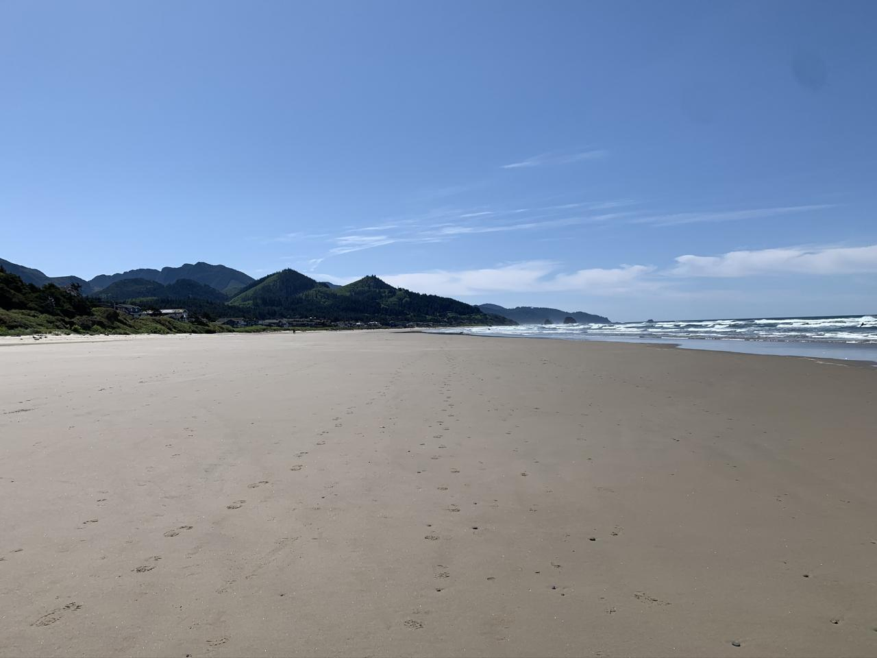 Beach, looking south to Tolovana