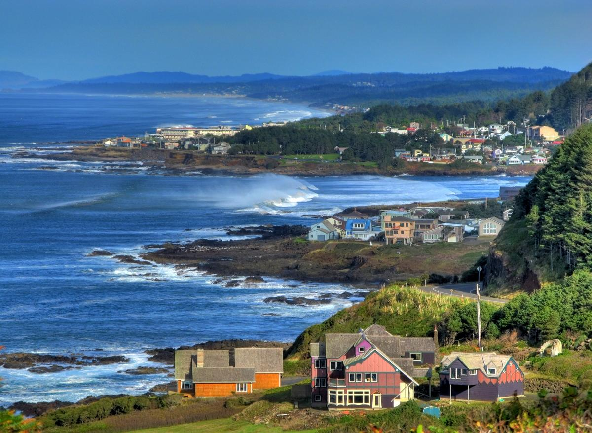Photo of coastline at Yachats.