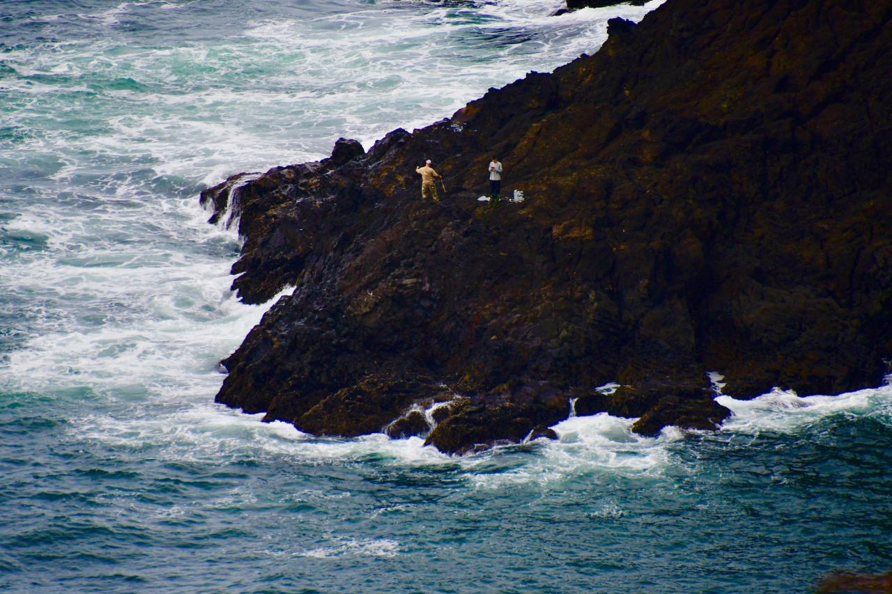 Fishermen at Cape Foulweather