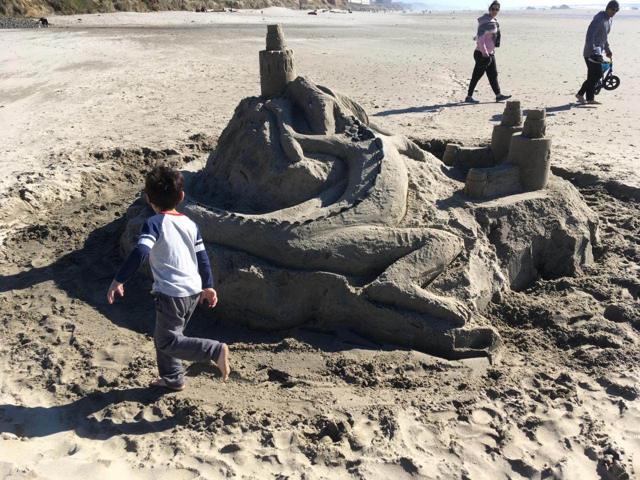 Wonderful sand castle