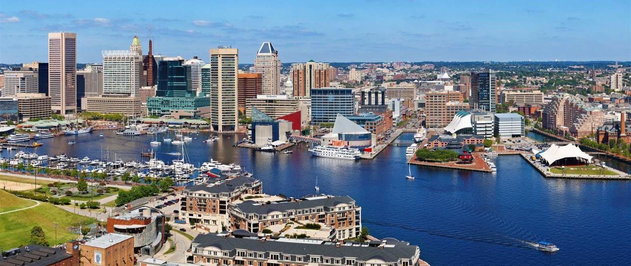 Photo of Baltimore's Inner Harbor.