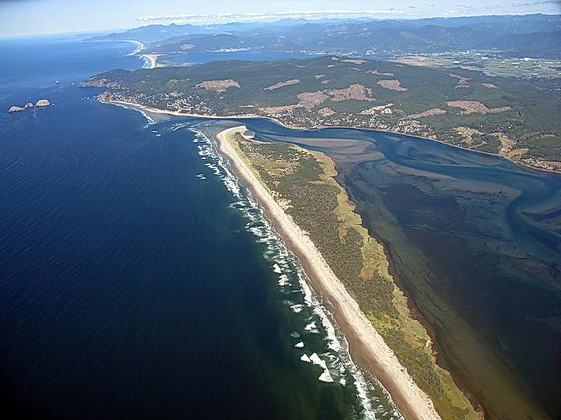 Netarts Bay is a key location for oyster restoration.\Photo by Alex Derr.
