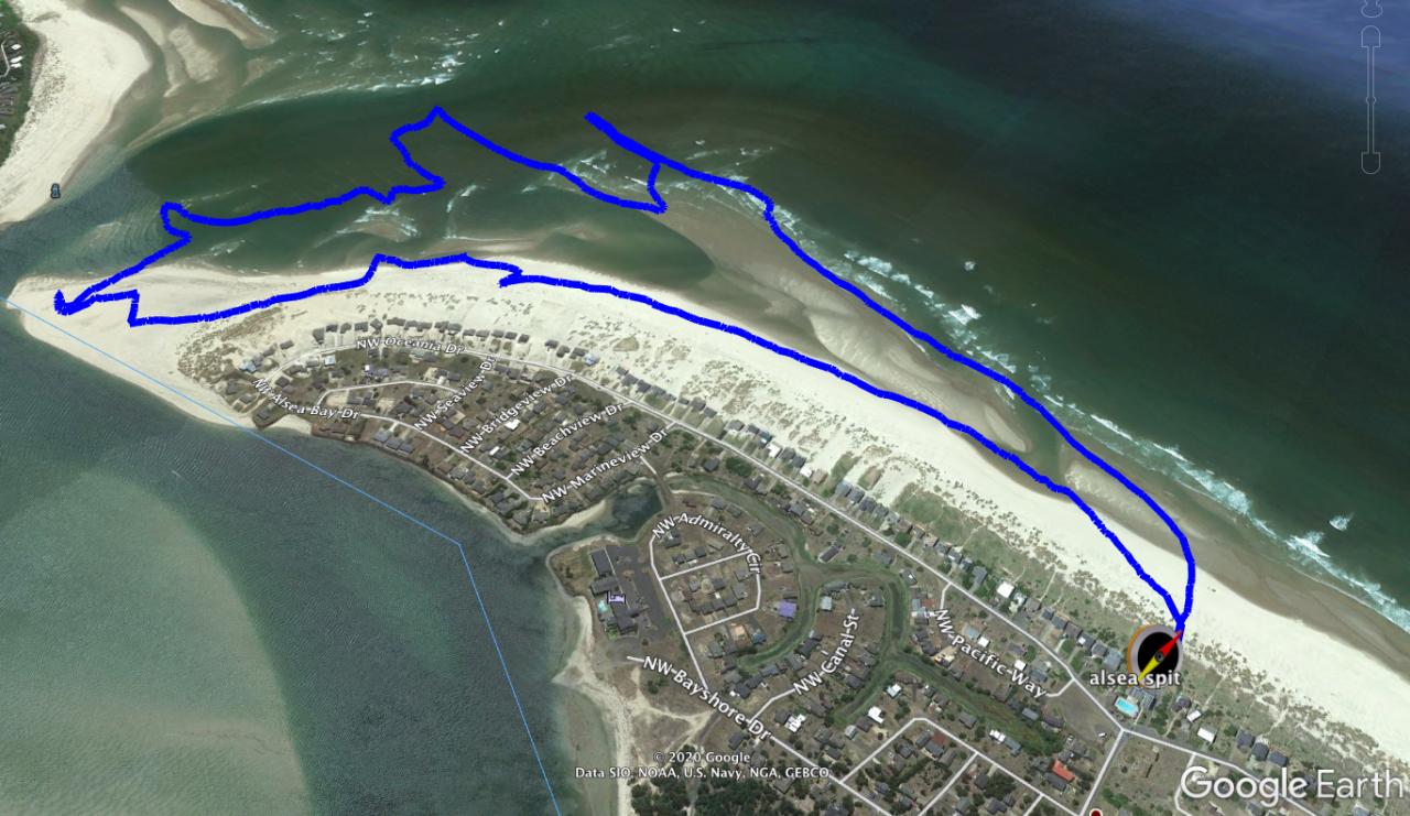 Alsea Spit walking map