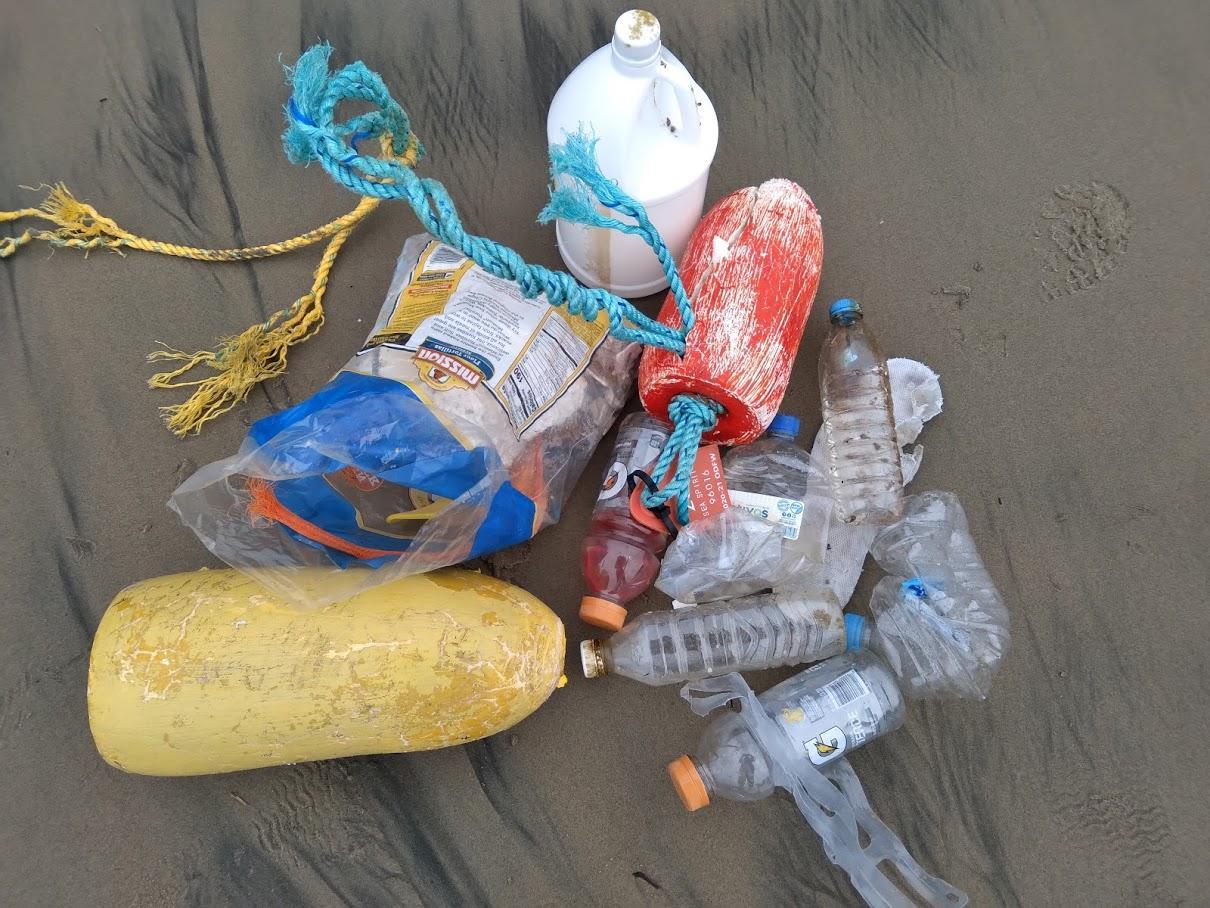 Crescent Beach Trash Plastic