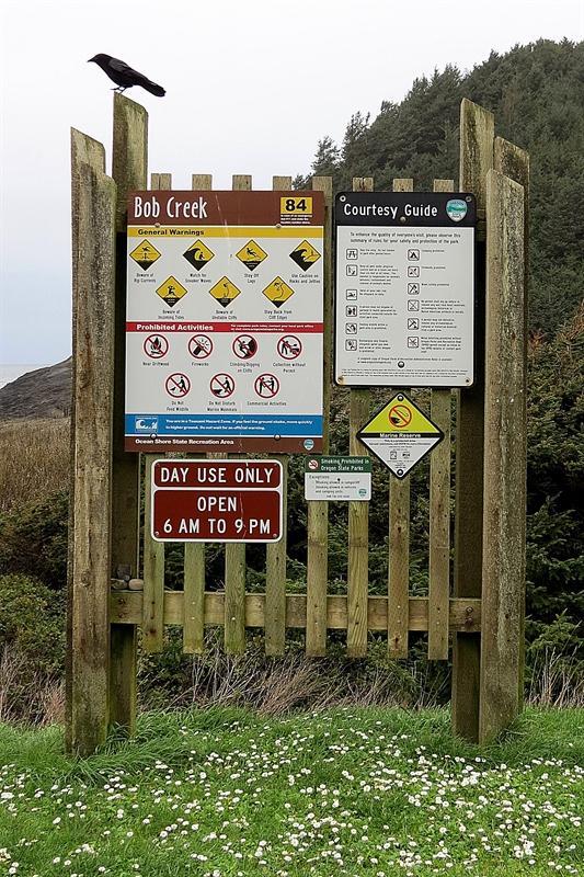 Signage at Bob Creek