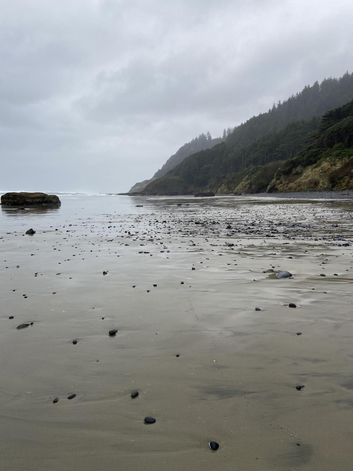 Rock fields observed on north end of beach