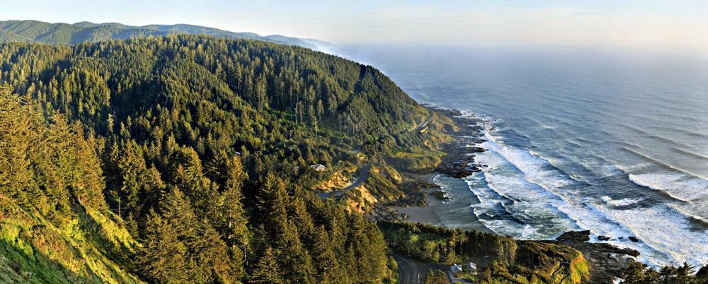 View south from Cape Perpetua.\Photo by Tim Giraudier.
