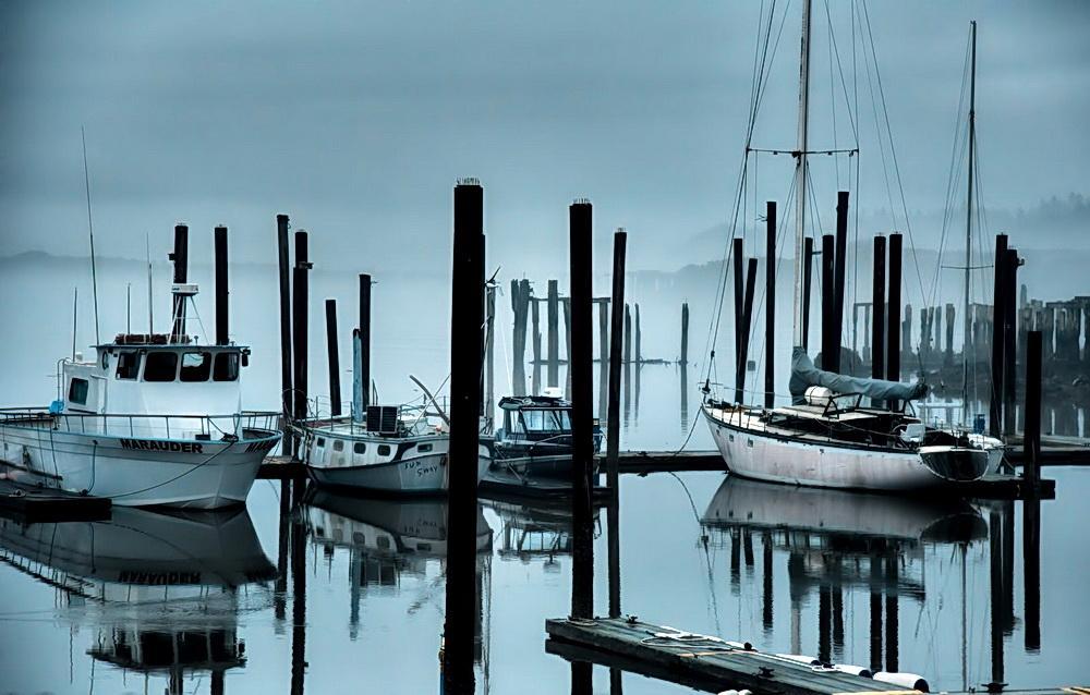 Bandon harbor.\Photo by Bruce Swenson.