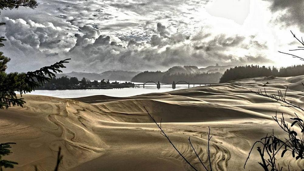 Florence from the Dunes.\Photo by Rich DeSantis.