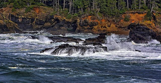 Photo of Rocky shores at Boiler Bay, by Kirt Edblom.
