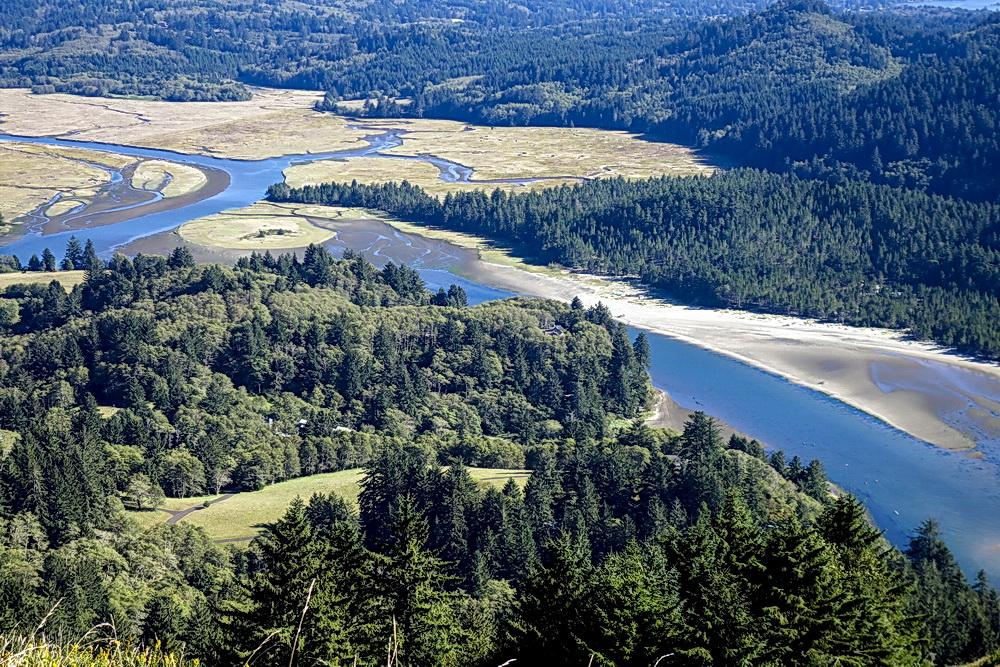 Looking east up the Salmon River's watershed. Photo by Dennis White.